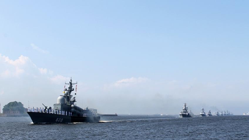Шойгу возглавил репетицию парада ВМФ вКронштадте
